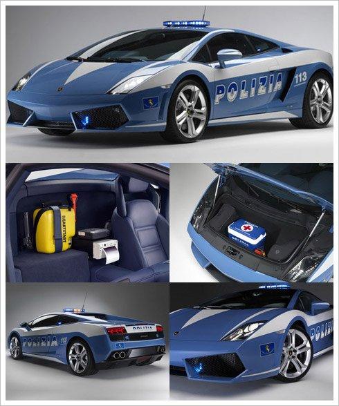 Une Lamborghini pour la police Italienne